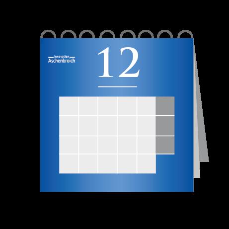 12 Blatt Wandkalender mit Deckblatt